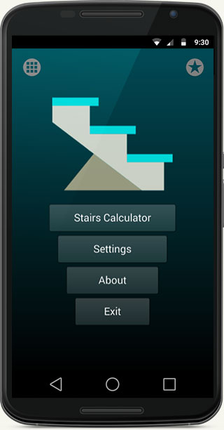 Stairs calculator app