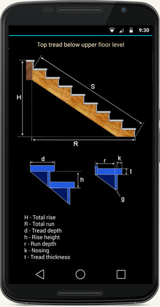 Fast Stairs Calculator - mobile app