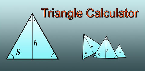 Fast triangle calculator, android app
